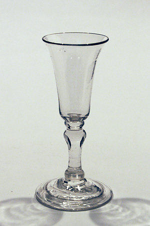 17th. & 18th. century drinking glasses, balusters, plain stems & air twists.. Balustroid gin glass
