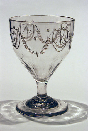 19th cent. Engraved & Etched. Navel rummer